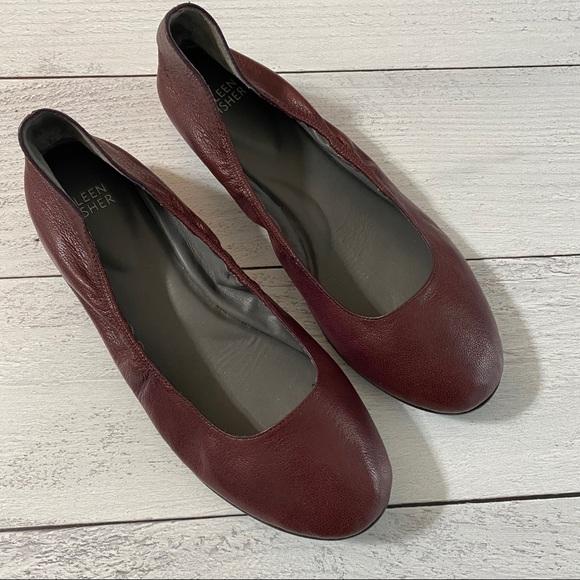 Eileen Fisher Vero Cuoio Ballet Flats- Size 8